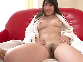 Sweet Jun Mmiya moaning as a toy penetrates her